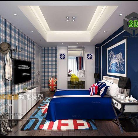 American Bedroom Style Interior148(3ddanlod.ir)