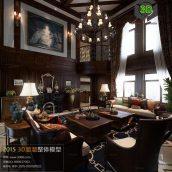 American Style Livingroom Interior 260(3ddanlod.ir)
