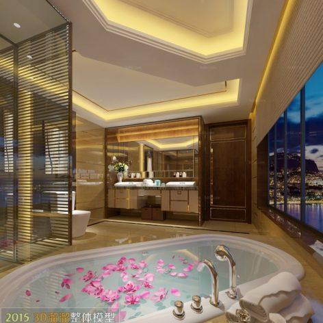 Bathroom 3D66 Interior 016(3ddanlod.ir)