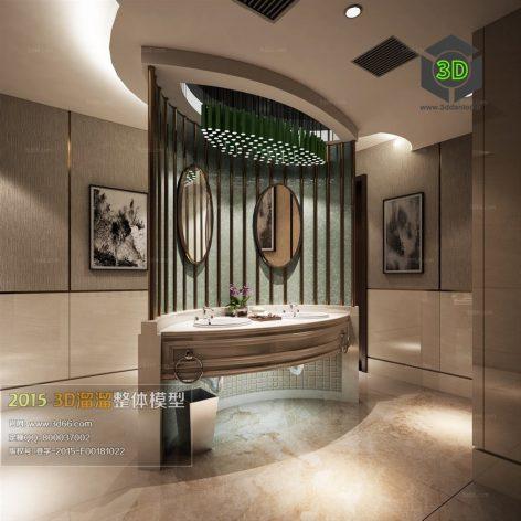 Bathroom 3D66 Interior 017(3ddanlod.ir)