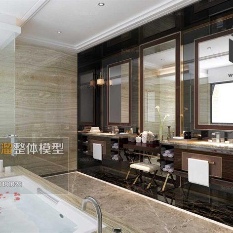 Bathroom 3D66 Interior 018(3ddanlod.ir)