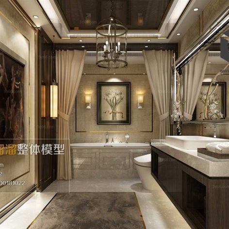 Bathroom 3D66 Interior 021(3ddanlod.ir)