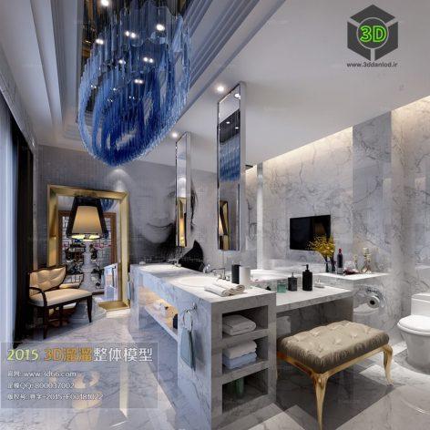 Bathroom 3D66 Interior 022(3ddanlod.ir)