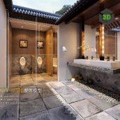 Bathroom 3D66 Interior 023(3ddanlod.ir)