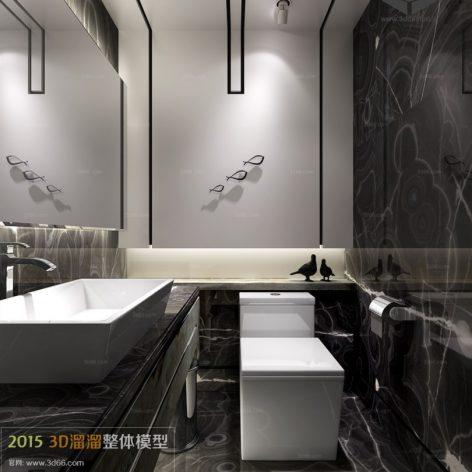 Bathroom 3D66 Interior 027(3ddanlod.ir)