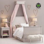 Bellina Bedroom Set Restoration Hardware Baby and Child(3ddanlod.ir) 023