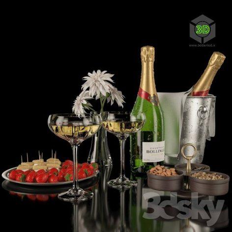 Bollinger Champagne Set(3ddanlod.ir) 167