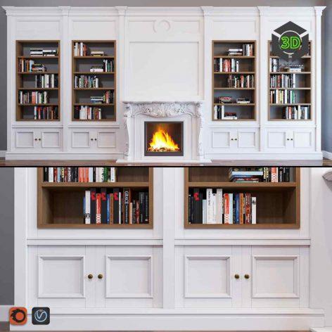 Bookcase(3ddanlod.ir) 095