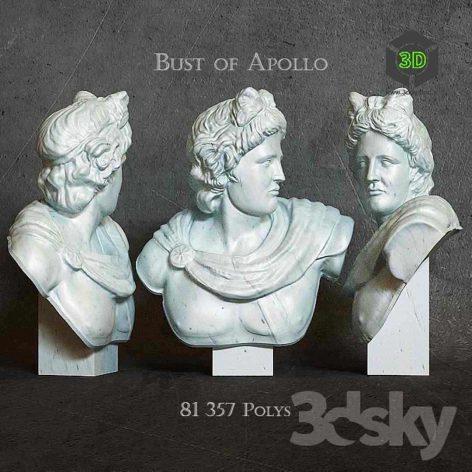 Bust of Apollo(3ddanlod.ir) 022