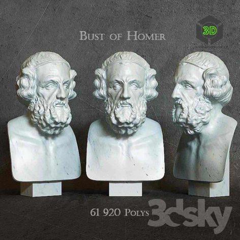 Bust of Homer(3ddanlod.ir) 019