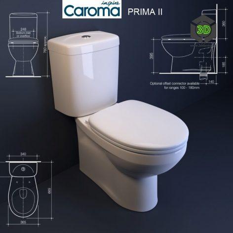Caroma Prima II Toilet(3ddanlod.ir) 171