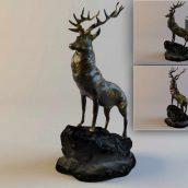 Deer Figurine(3ddanlod.ir) 007