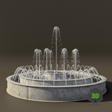 Fountain C2 front view (3ddanlod.ir) 002