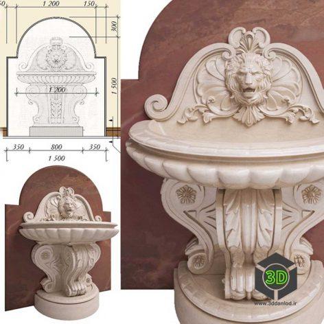 classic ston Fountain(3ddanlod.ir) 019