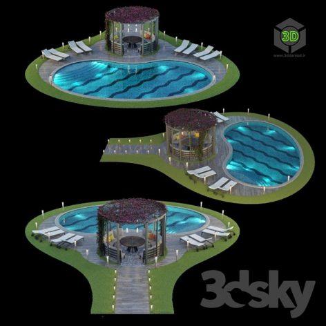 Gazebo and Swimming Pool 6 top view(3ddanlod.ir) 009
