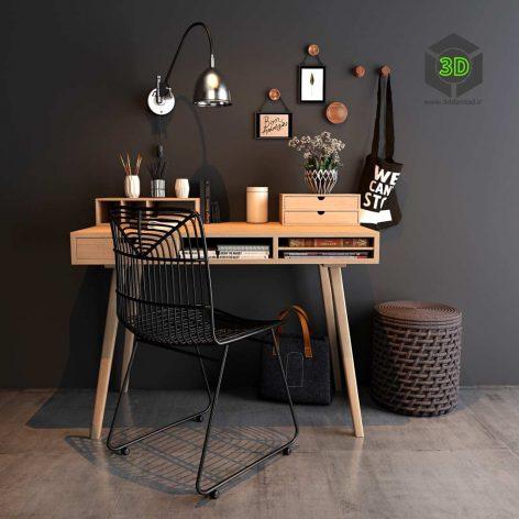 Home Workspace Set(3ddanlod.ir) 028