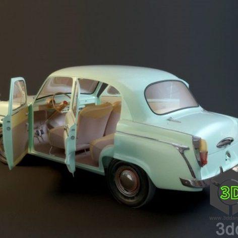 Moskvich 407_Car(3ddanlod.ir)