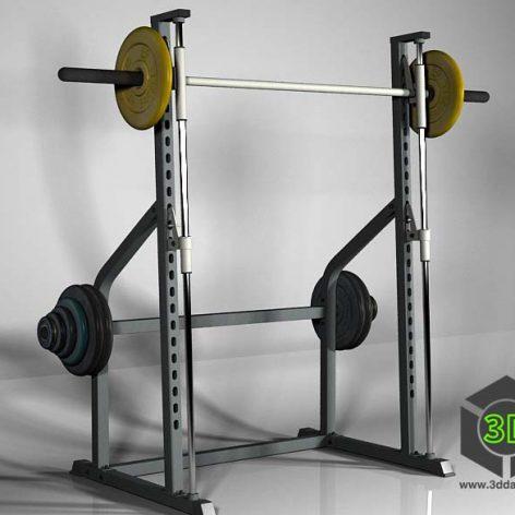 Smith Machine HouseFit HG-2010_simulator gym(3ddanlod.ir)