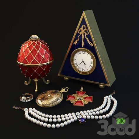 russian antique set (3ddanlod.ir)