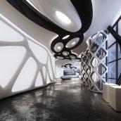 showroom interior scene modern 004 (3ddanlod.ir)
