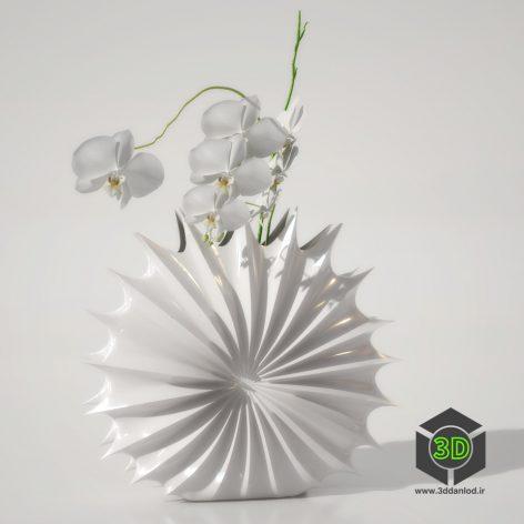 014 white vase1(3ddanlod.ir)