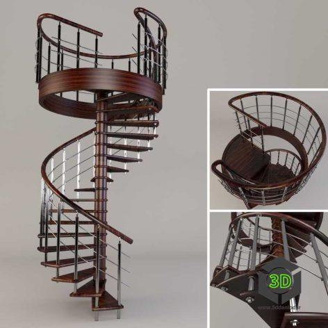 spiral stair 002(3ddanlod.ir)