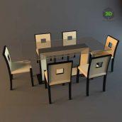 post modern dinning table(3ddanlod.ir)