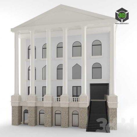 Building 3ddanlod.ir  472x472 - دانلود مدل سه بعدی ساختمان کلاسیک 001