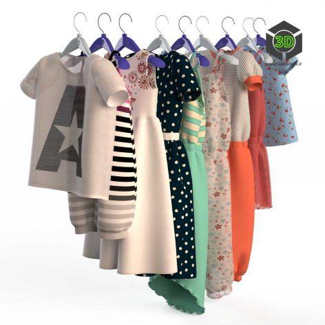 Children Clothing on a Hanger(3ddanlod.ir) 008
