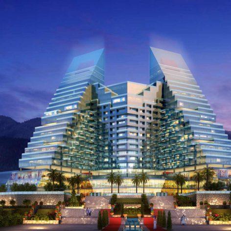 Complex amenities 001 facade building (3ddanlod.ir) 001