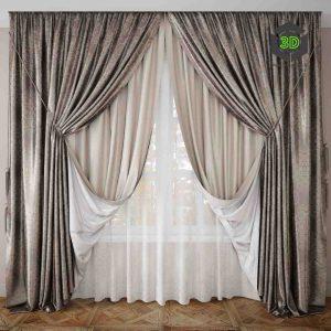 Curtain 503ddanlod.ir 009 300x300 - دانلود مدل سه بعدی پرده کلاسیک 024