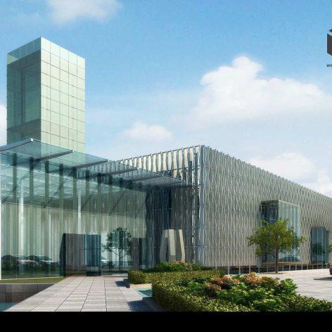 Exhibition building entrance view (3ddanlod.ir) 016