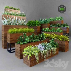Herb flower box (3ddanlod.ir) 040
