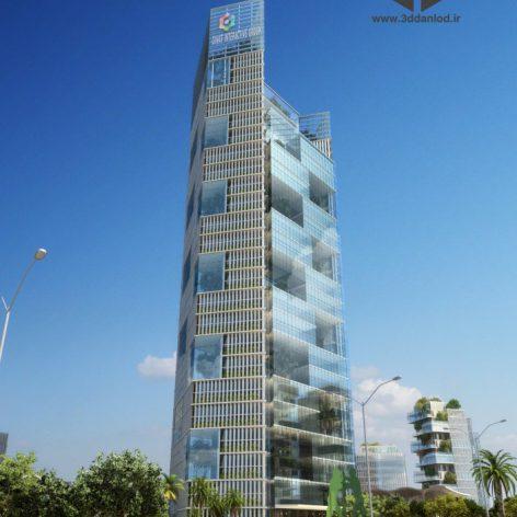 Residential Complex 007 facade building (3ddanlod.ir) 031