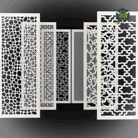 Set of Decorative Panels vertical view(3ddanlod.ir) 019