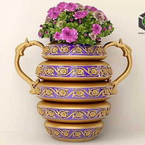 Vase with Roses (3ddanlod.ir)
