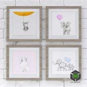 Детские картины Забавные зверята(3ddanlod.ir)