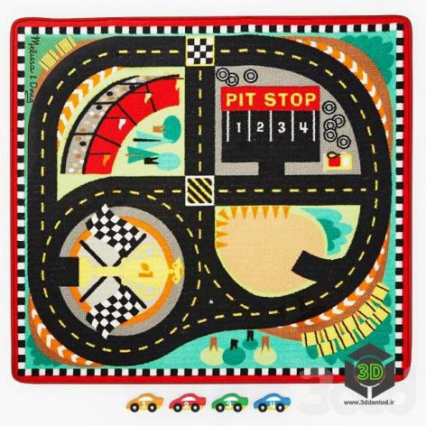 Игровой коврик Трасса для гонок(3ddanlod.ir)