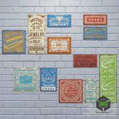 Набор винтажных металлических табличек(3ddanlod.ir)