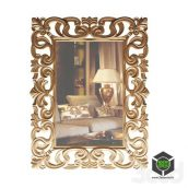зеркало резное(3ddanlod.ir)