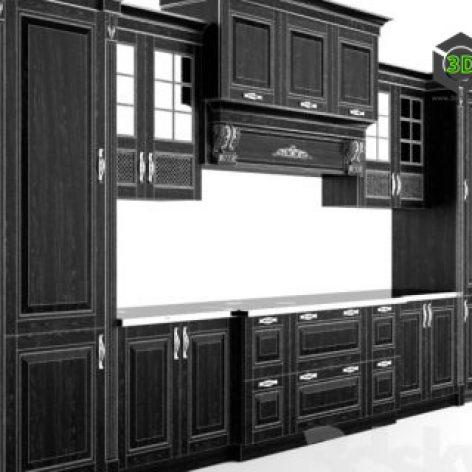 black classic kitchen right view (3ddanlod.ir) 016