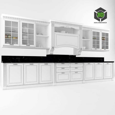 001 (3ddanlod.ir) white classic kitchen
