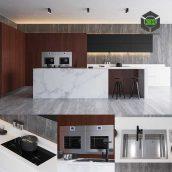 modern kitchen front view (3ddanlod.ir) 078