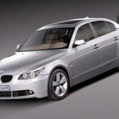 BMW 5-Series E60 sedan 2004-2010 3D Model(3ddanlod.ir)