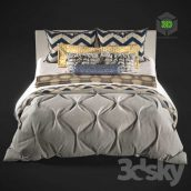 Bed Linen 019 front view (3ddanlod.ir)