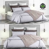 Bed and Bed Sheet Set 1 two view (3ddanlod.ir) 129