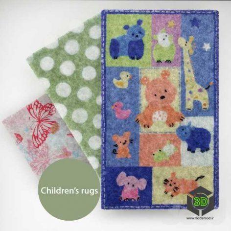 Carpets in the children's room(3ddanlod.ir)
