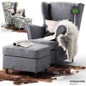Chair Strandmon Ikea(3ddanlod.ir) 386