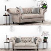 Club Chesterfield Sofa Set(3ddanlod.ir) 390