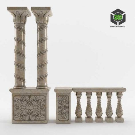 Column, baluster, Cupboard (3ddanlod.ir) 028